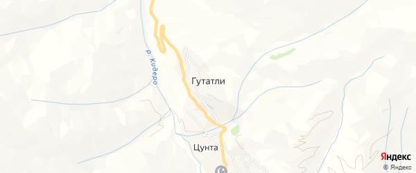 Карта села Гутатли в Дагестане с улицами и номерами домов