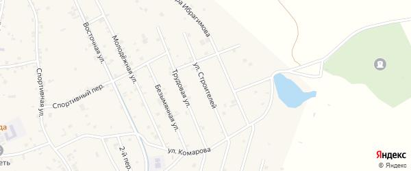 Улица Строителей на карте села Герменчук с номерами домов