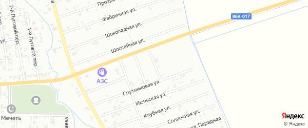 Улица 3-й Быстрый на карте Шали с номерами домов