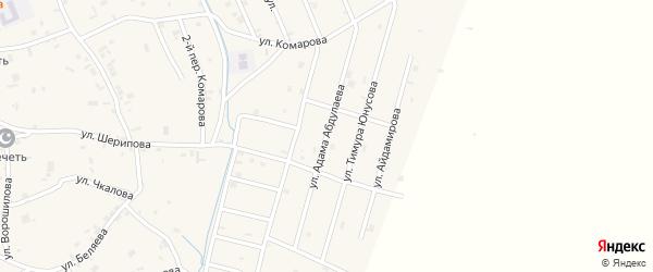 Улица Адама Абдулаева на карте села Герменчук с номерами домов