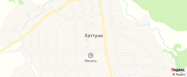 Улица Х.А.Абубакарова на карте села Хаттуни с номерами домов