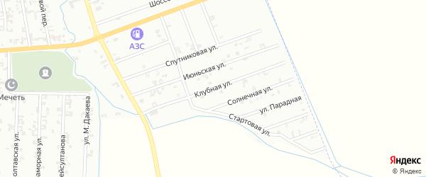 4-я Спутниковая улица на карте Шали с номерами домов