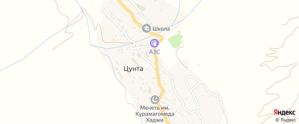 Улица Нухудина Гаджиева на карте села Гениятли с номерами домов