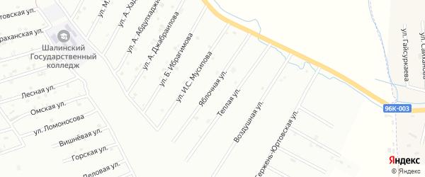 1-я Кладбищенская улица на карте Шали с номерами домов
