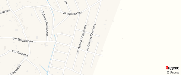 Улица Тимура Юнусова на карте села Герменчук с номерами домов