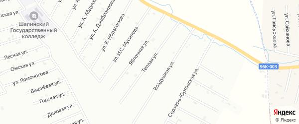 2-я Кладбищенская улица на карте Шали с номерами домов