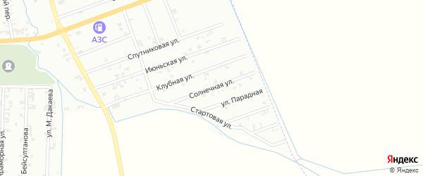5-я Спутниковая улица на карте Шали с номерами домов