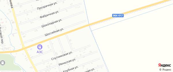 1-й Быстрый переулок на карте Шали с номерами домов