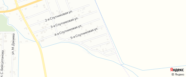 6-я Спутниковая улица на карте Шали с номерами домов