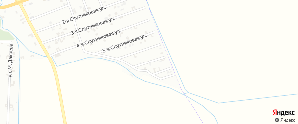 7-я Спутниковая улица на карте Шали с номерами домов