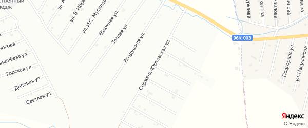 Сержень-Юртовская улица на карте Шали с номерами домов