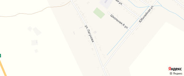 Улица Лагунова на карте села Старицы с номерами домов
