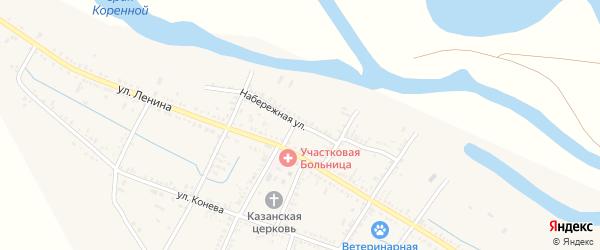 Набережная улица на карте села Старицы с номерами домов