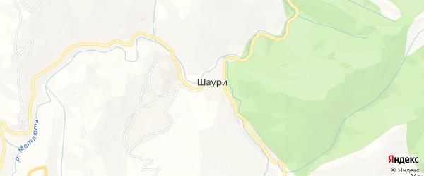Карта села Шаури в Дагестане с улицами и номерами домов
