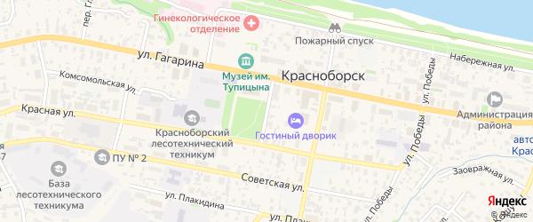 Улица имени 200-летия Красноборска на карте села Красноборска с номерами домов