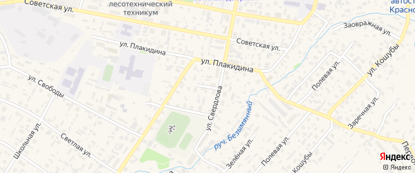 Октябрьская улица на карте села Красноборска с номерами домов