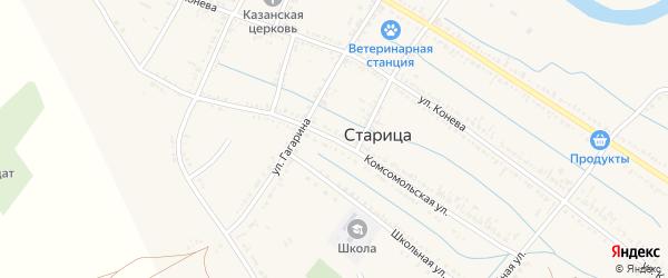 Комсомольская улица на карте села Старицы с номерами домов
