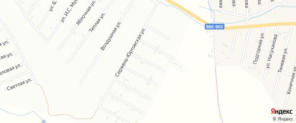 2-й Сержень-Юртовский переулок на карте Шали с номерами домов