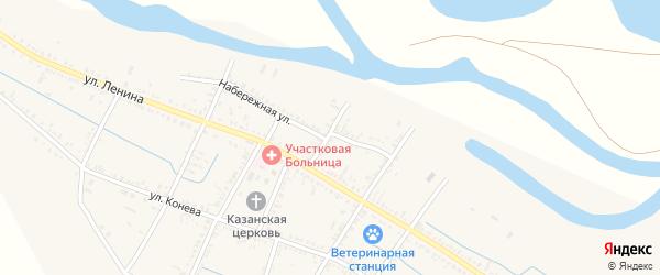 Волжский переулок на карте села Старицы с номерами домов