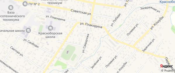 Улица Свердлова на карте села Красноборска с номерами домов