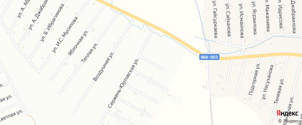 Сержень-Юртовский переулок на карте Шали с номерами домов