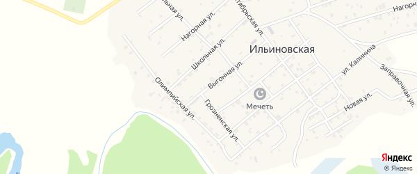 Выгонная улица на карте Ильиновская станицы с номерами домов