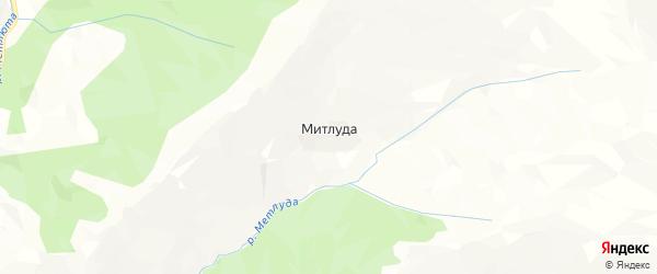 Карта села Митлуды в Дагестане с улицами и номерами домов