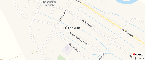 Переулок Волго-Дон на карте села Старицы с номерами домов