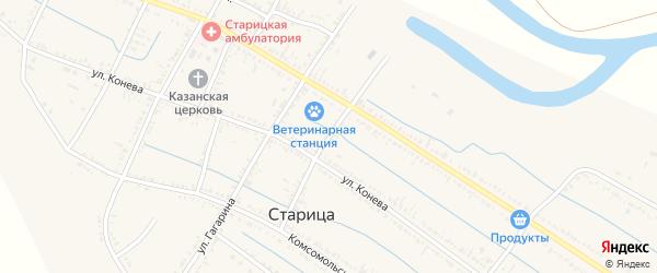 Первомайский переулок на карте села Старицы с номерами домов