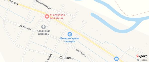 Улица Ленина на карте села Старицы с номерами домов