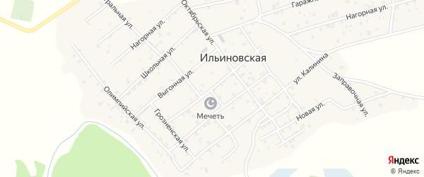 Улица Куйбышева на карте Ильиновская станицы с номерами домов