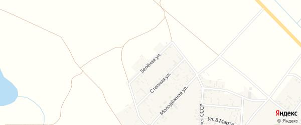 Зеленая улица на карте села Пологого Займища с номерами домов