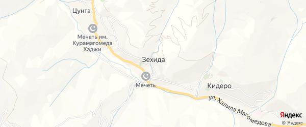 Карта села Зехиды в Дагестане с улицами и номерами домов