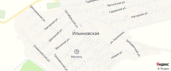 Гаражная улица на карте Ильиновская станицы с номерами домов
