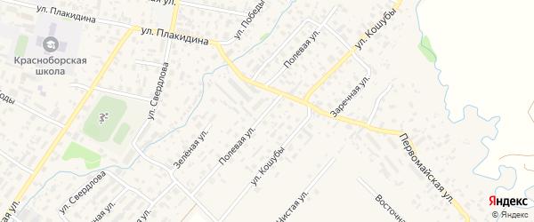 Полевая улица на карте села Красноборска с номерами домов