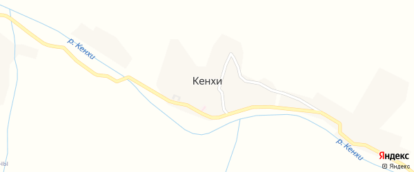 Заречная улица на карте села Кенхи с номерами домов