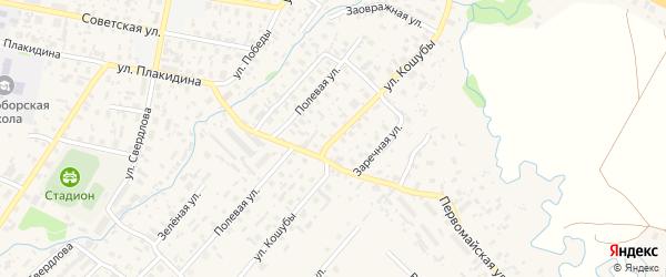 Улица Павла Кошубы на карте села Красноборска с номерами домов