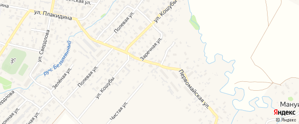 Первомайская улица на карте села Красноборска с номерами домов