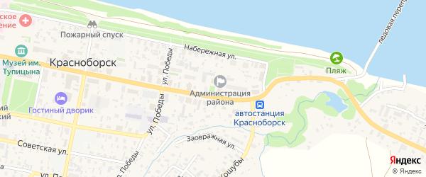 Восточная улица на карте села Красноборска с номерами домов