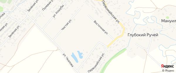 Улица Окатова на карте села Красноборска с номерами домов