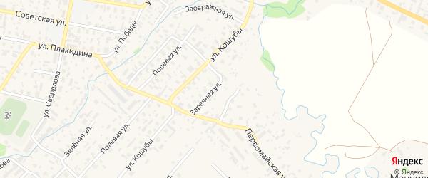 Заречная улица на карте села Красноборска с номерами домов