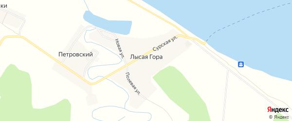 Карта поселка Лысой Горы города Улан-Удэ в Бурятии с улицами и номерами домов