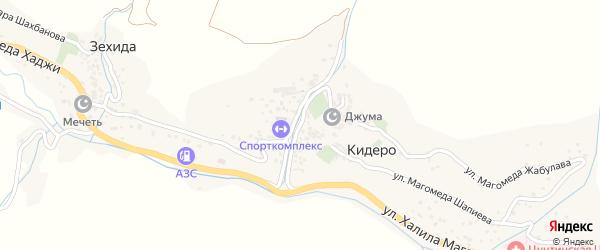 Улица Ахмада Дибира на карте села Кидеро с номерами домов