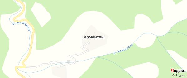 Улица Джабраила Омаровича на карте села Хамаитли с номерами домов