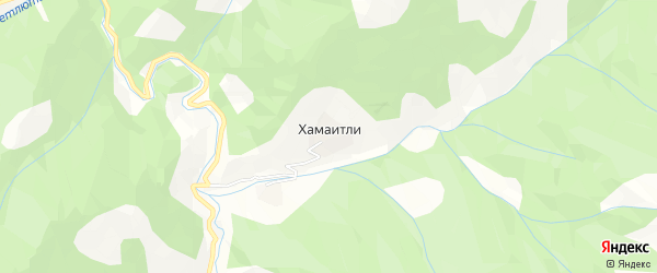 Карта села Хамаитли в Дагестане с улицами и номерами домов
