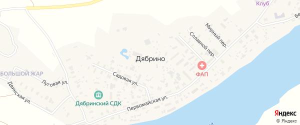 Луговая улица на карте поселка Дябрино с номерами домов