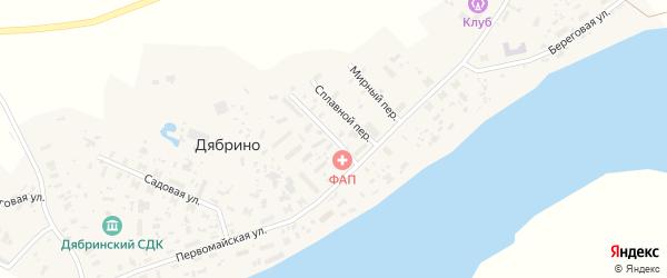 Строительный переулок на карте поселка Дябрино с номерами домов