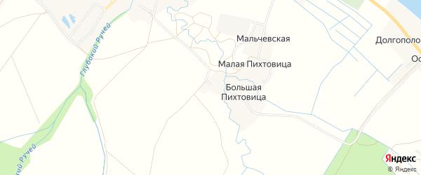 Карта Некрасовской деревни в Архангельской области с улицами и номерами домов