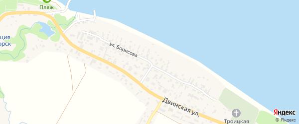 Улица Борисова на карте села Красноборска с номерами домов