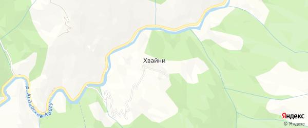 Карта села Хвайни в Дагестане с улицами и номерами домов